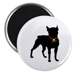 Christmas or Holiday Boston Terrier Silhouette 2.2