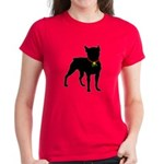 Christmas or Holiday Boston Terrier Silhouette Wom