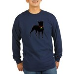 Christmas or Holiday Boston Terrier Silhouette Lon