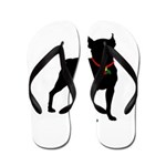 Christmas or Holiday Boston Terrier Silhouette Fli