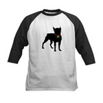 Christmas or Holiday Boston Terrier Silhouette Kid