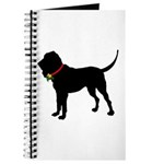 Christmas or Holiday Bloodhound Silhouette Journal