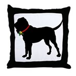 Christmas or Holiday Bloodhound Silhouette Throw P