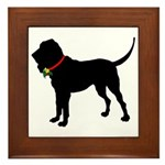 Christmas or Holiday Bloodhound Silhouette Framed