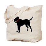 Christmas or Holiday Bloodhound Silhouette Tote Ba