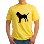 Christmas or Holiday Bloodhound Silhouette Yellow