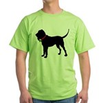 Christmas or Holiday Bloodhound Silhouette Green T