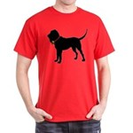 Christmas or Holiday Bloodhound Silhouette Dark T-