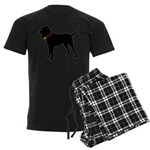 Christmas or Holiday Bloodhound Silhouette Men's D