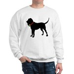 Christmas or Holiday Bloodhound Silhouette Sweatsh