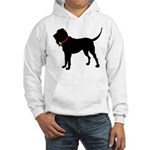 Christmas or Holiday Bloodhound Silhouette Hooded