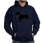 Christmas or Holiday Bloodhound Silhouette Hoodie