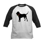 Christmas or Holiday Bloodhound Silhouette Kids Ba