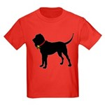 Christmas or Holiday Bloodhound Silhouette Kids Da