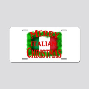 Italian Christmas Aluminum License Plate