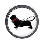 Christmas or Holiday Basset Hound Silhouette Wall