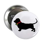 Christmas or Holiday Basset Hound Silhouette 2.25