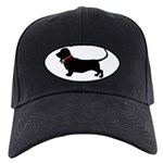 Christmas or Holiday Basset Hound Silhouette Black