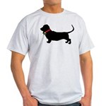 Christmas or Holiday Basset Hound Silhouette Light