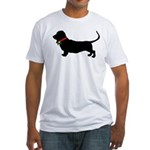 Christmas or Holiday Basset Hound Silhouette Fitte
