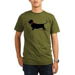 Christmas or Holiday Basset Hound Silhouette Organ