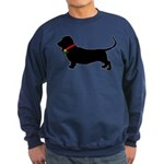 Christmas or Holiday Basset Hound Silhouette Sweat