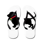 Christmas or Holiday Basset Hound Silhouette Flip