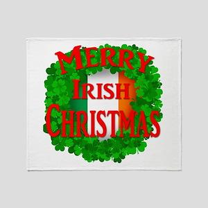 Irish Christmas Throw Blanket