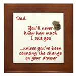 Dad you'll Never Know Framed Tile