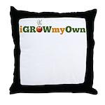 iGrowMyOwn (Logo Only) Throw Pillow