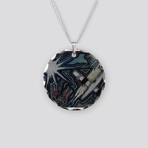"""""""Friday Afternoon"""" Necklace Circle Charm"""