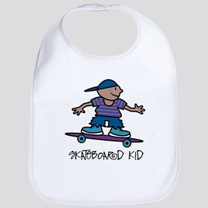 Skateboard Kid Bib
