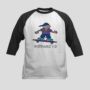 Skateboard Kid Kids Baseball Jersey