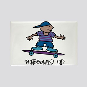 Skateboard Kid Rectangle Magnet