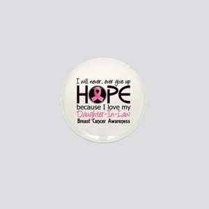 Hope For My 2 Breast Cancer Mini Button