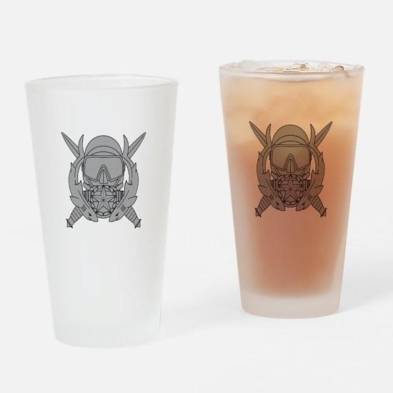 Combat Diver Supervisor Drinking Glass