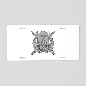 Combat Diver Supervisor Aluminum License Plate