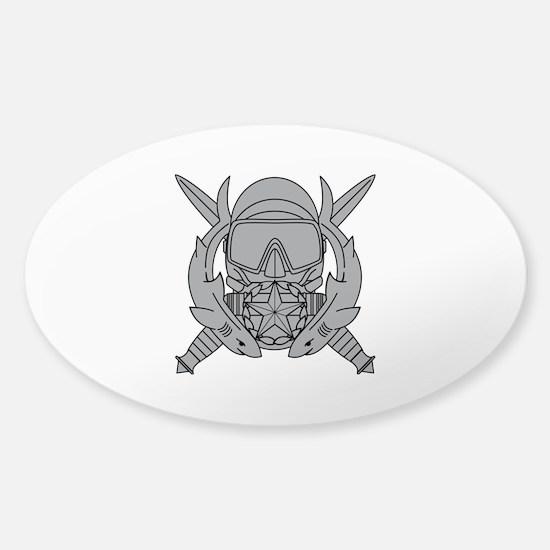 Combat Diver Supervisor Sticker (Oval)