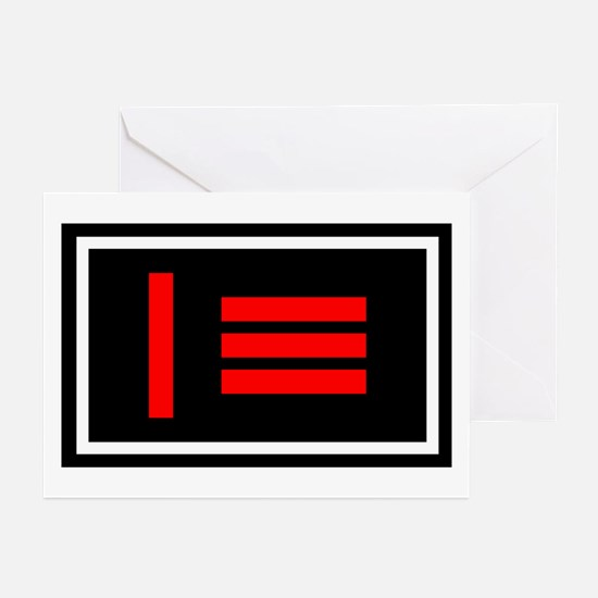 Master slave / Dom sub Flag Greeting Cards (Packag