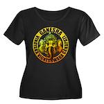 Ganesha2 Women's Plus Size Scoop Neck Dark T-Shirt
