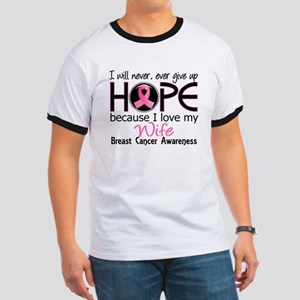 Hope For My 2 Breast Cancer Ringer T