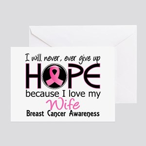 Hope For My 2 Breast Cancer Greeting Card