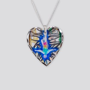 """""""Fracture"""" Necklace Heart Charm"""