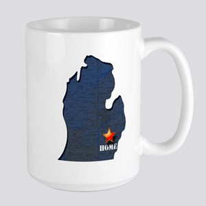 Michigan Is Home Large Mug