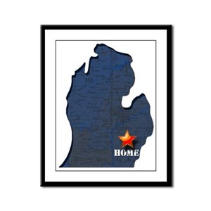 Michigan Is Home Framed Panel Print
