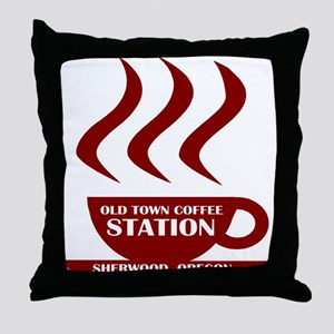 Old Town Coffee Throw Pillow