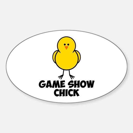 Game Show Chick Sticker (Oval)