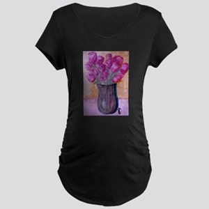 New Orleans Beautiful Paintin Maternity Dark T-Shi