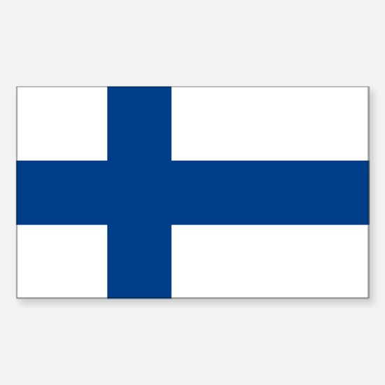 Flag of Finland Rectangle Decal