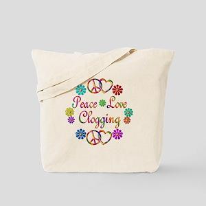 Peace Love Clogging Tote Bag